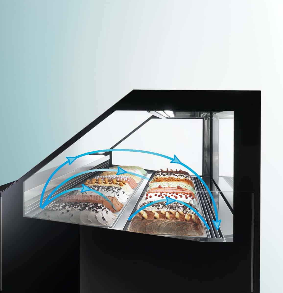 Vetrine gelateria premium lecce for Arredo bar lecce